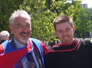 Paul Chaput MA PhD and Jon Aarssen BA at their Spring 2016 Convocation, Queens University